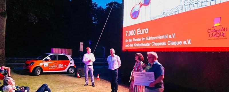 STWB - Spendenübergabe TiG & Chapeau Claque